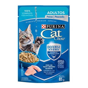 CAT CHOW ADULTO PESCADO 85GR.