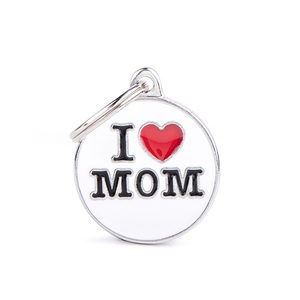 PLACA IDENT I LOVE MOM PEQ MY FAMILY