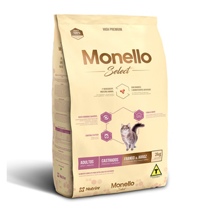 MONELLO SELECT GATOS CASTRADOS ADULTOS F/A 2KG