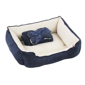 PAWISE 12401 - PET BED CON /BLANKET & BONE - AZUL