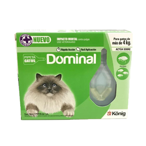 KONIG PIPETA DOMINAL GATOS MAS 4KG